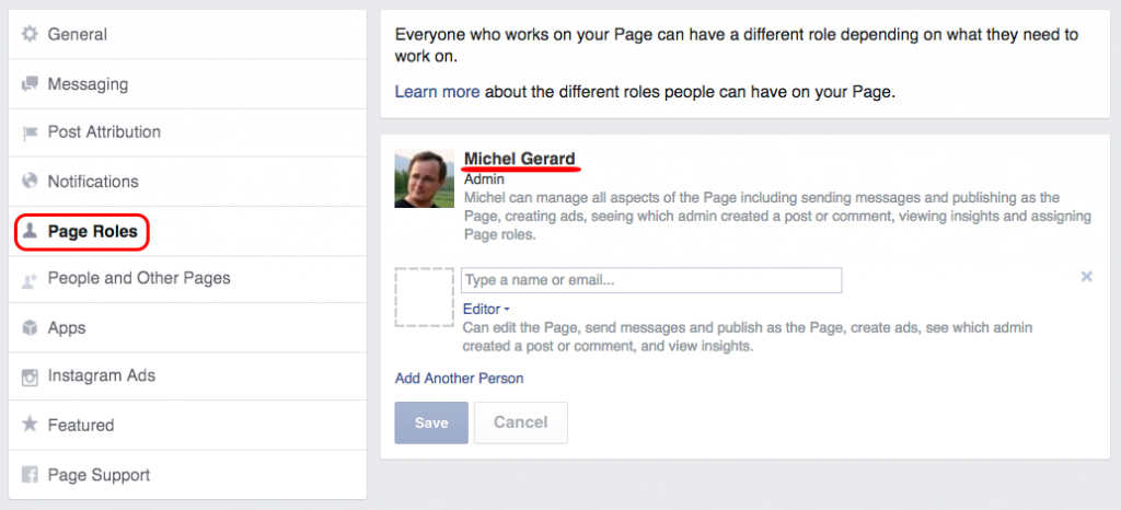 Make your Consultant an Editor of your Facebook Page