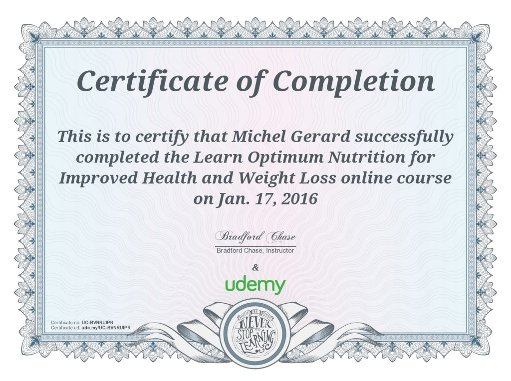 Learn Optimum Nutrition for Improved Health and Weight Loss ~ Michel Gerard  Online