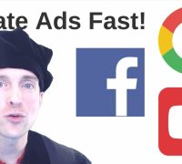 Create Ads on Facebook, YouTube, and Google AdWords Today!